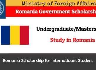 Romania Government Scholarship