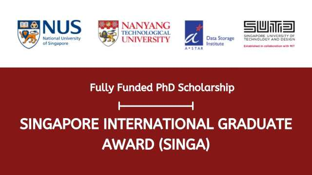 Singapore International Graduate Award 2021 for PhD Students, Singapore