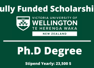 University of Wellington Doctoral Scholarship