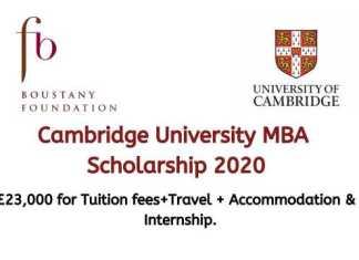Cambridge University MBA Scholarship