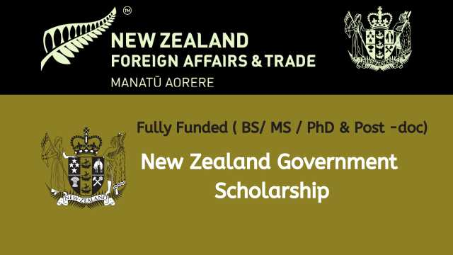 Fully Funded New Zealand Government Scholarship 2021