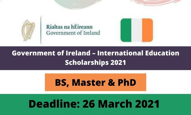 Government of Ireland International Education Scholarships 2021