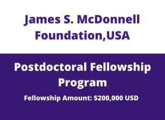 JSMF Postdoctoral Fellowship Awards