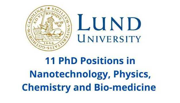 11 PhD Position at LUND University, Sweden | PhD Scholarship Sweden