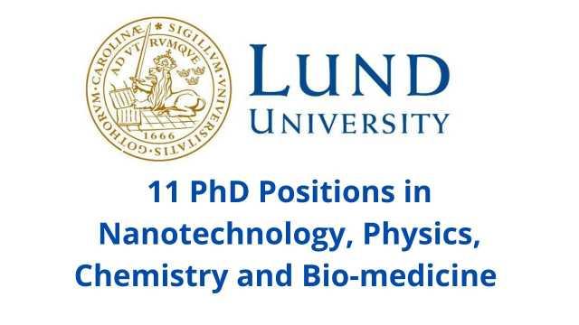 11 PhD Position at LUND University, Sweden   PhD Scholarship Sweden