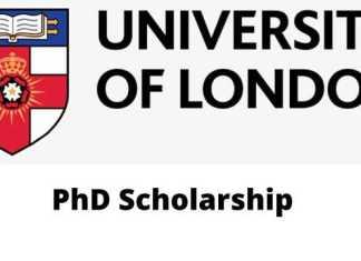 University of London PhD Scholarship