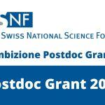 Swiss National Research Foundation Ambizione Postdoc Grants 2021