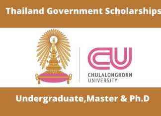 Chulalongkorn University Thailand Government Scholarships
