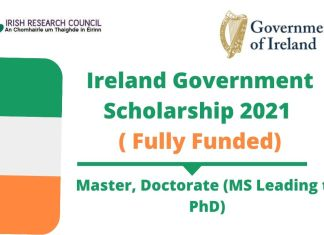 Ireland Government Scholarship