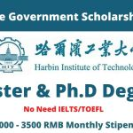 Harbin Institute of Technology HIT CSC Scholarship 2022 in China