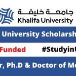 Khalifa University Scholarship 2021 in UAE  for International Students