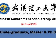 Wuhan University of Technology Chinese Government Scholarship