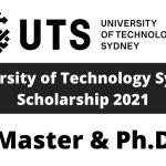 University of Technology Sydney Scholarship 2021   Fully Funded