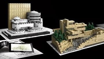 LEGO Frank Lloyd Wright, Fallingwater and Guggenheim Museum
