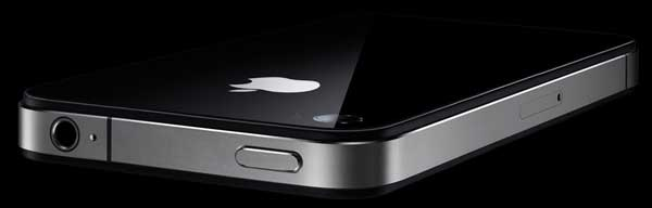 Apple iPhone 4 back angle view