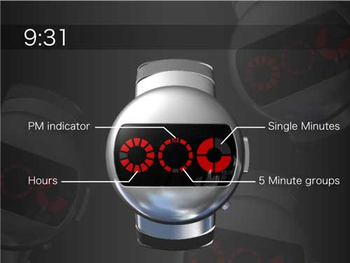Tokyoflash Robot watch, design concept