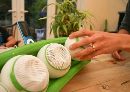 flOw interactive iPod dock, interactive wireless speakers