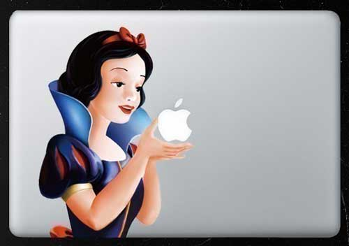 MacBook decal, MacBook Pro decal, personalise your Mac, Snow White decal