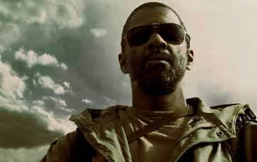 The Book of Eli, screenshot of Denzel Washington