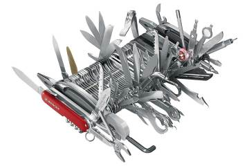 Wenger Giant Swiss Army Knife, blades out