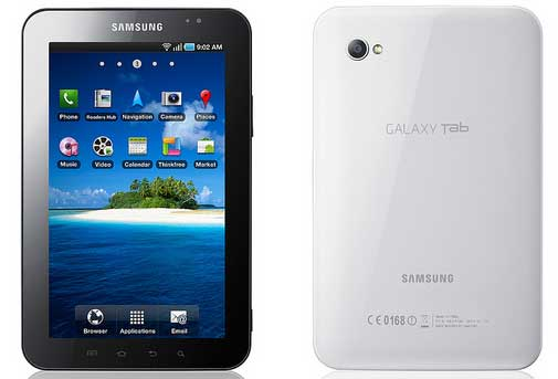Samsung Galaxy Tab, Samsung tablet computer, Android Froyo tablet