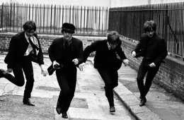 The Beatles, a still from the Hard Day's Night film