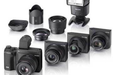Ricoh GXR digital camera range
