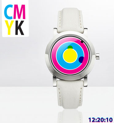 Tokyoflash CMYK Color Analog Watch Design