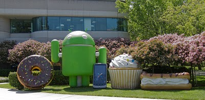 Google HQ's garden of Android logo models