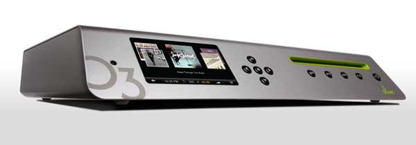 Olive O3HD Music Server - silver colour, front angle