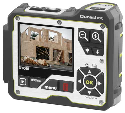 Ryobi Durashot Digital Camera - rear