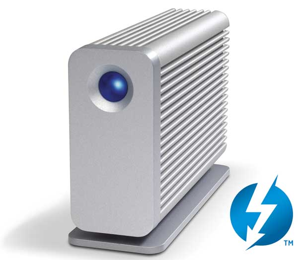 LaCie Little Big Disk, external hard drive, with Thunderbolt