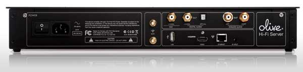 Olive O4HD Music Server, rear view