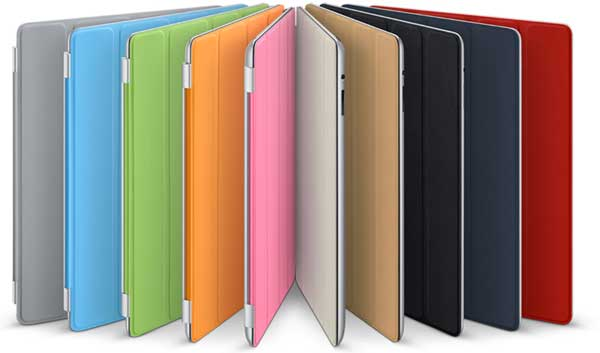 The colour range of the Apple iPad Smart Cover