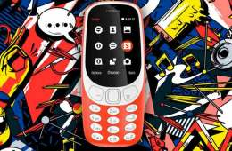 Nokia 3310 reboot graffiti background