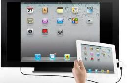 The iPad 2 mirrored on a big screen TV