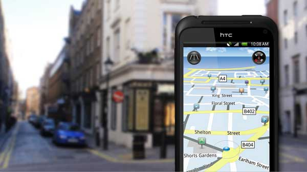 HTC Incredible S GPS screen