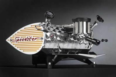 Kees Van Der Westen Speedster coffee machine, yellow, front angle