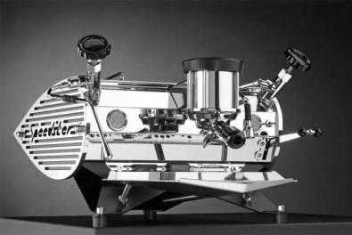 Kees Van Der Westen Speedster coffee machine, black, front view