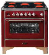 Ilve Majestic stove / oven, 90cm model in red