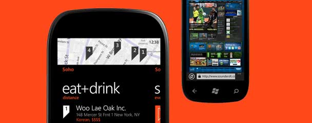 Microsoft Windows Phone, LocalScout screenshots