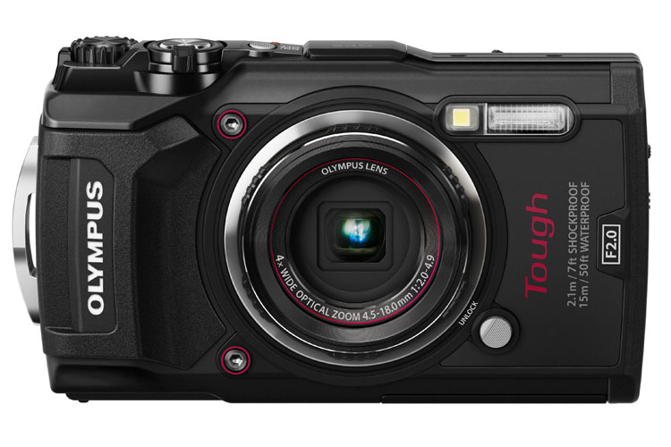Olympus Tough TG-5 camera black front