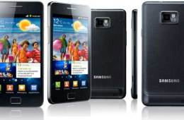 Samsung Galaxy S II, front, back and side views