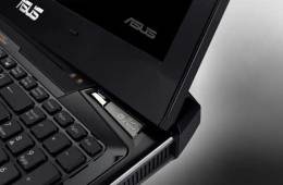 Asus Lamborghini VX7 notebook computer start button