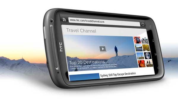 HTC Sensation, web browser