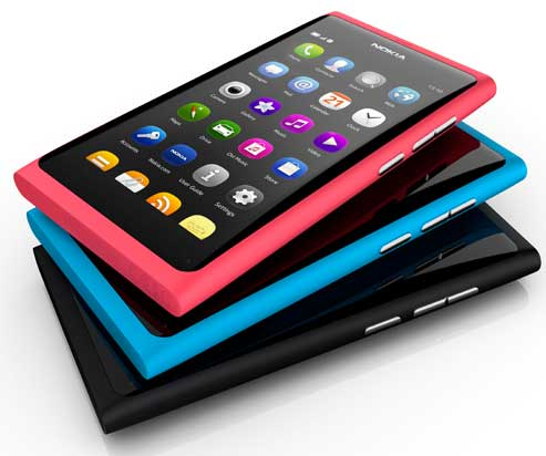 The Nokia N9 colour range