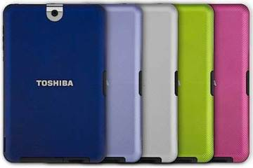 Toshiba Tablet interchangeable coloured back covers