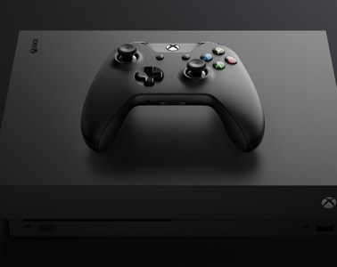 Xbox One X console and controller