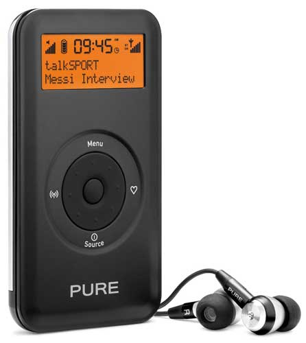 Pure Move 2500 portable digital radio, front view