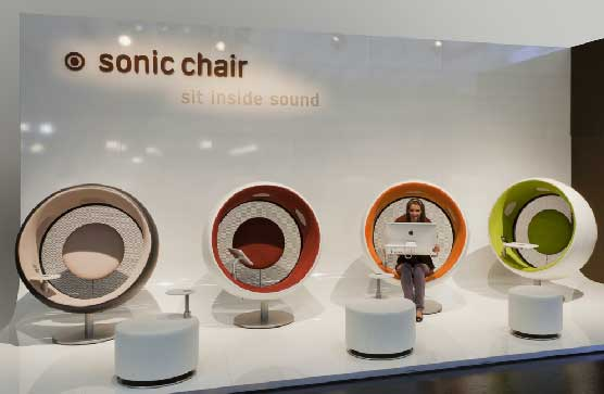 sonic chair, a selection of the range